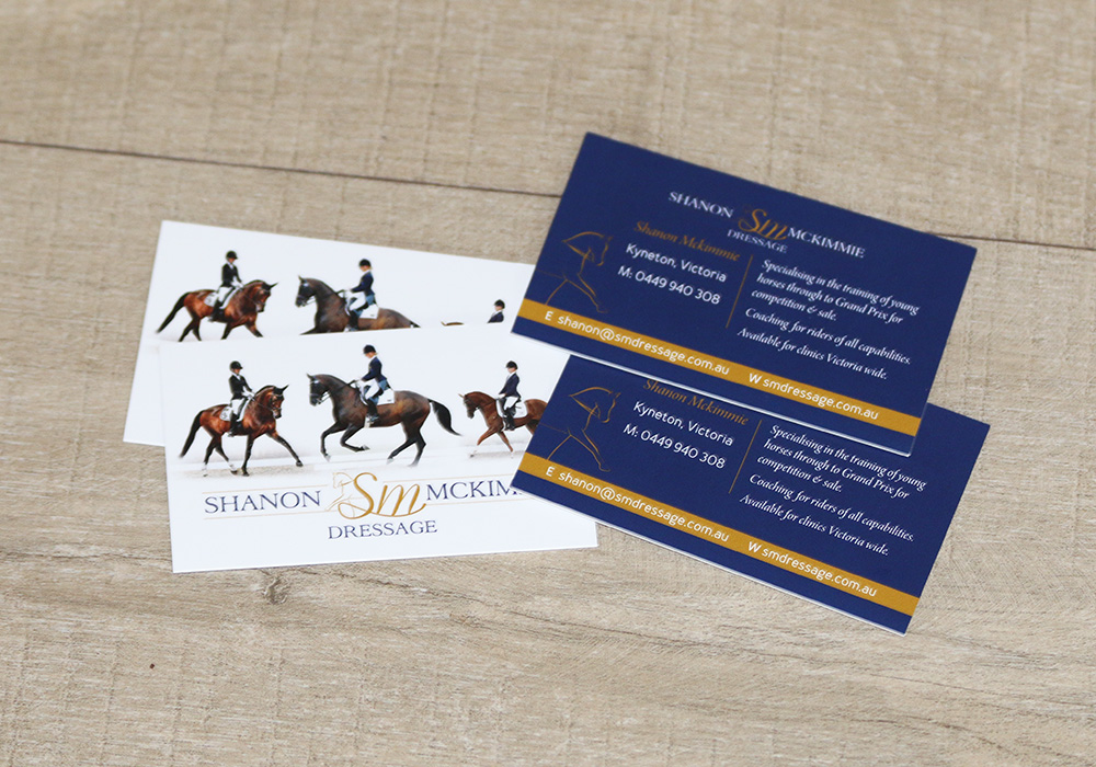 Equine Business Cards - Affordable business cards for the horse industry