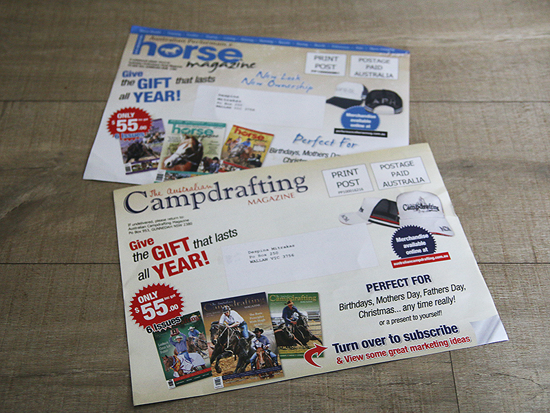 magazine cover sheets show pony graphics